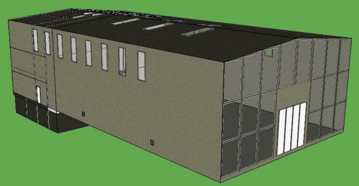 Dreidimensionales Gebäudemodell